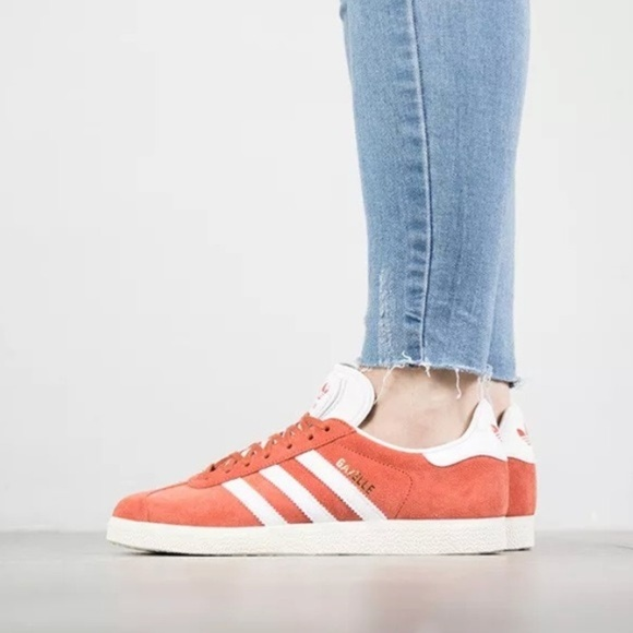 Orangewhite Nwt Adidas Low Sneaker Top Gazelle Light j3L4A5R